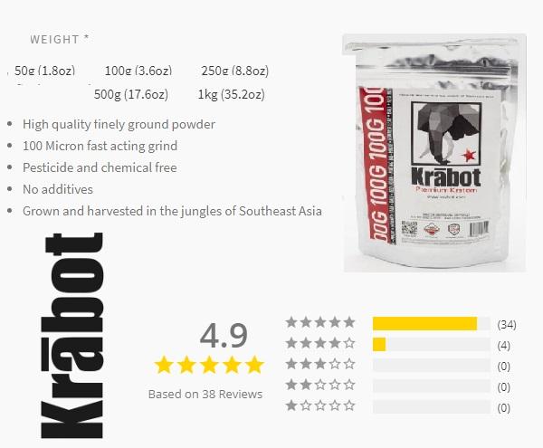 Krabot kratom Products